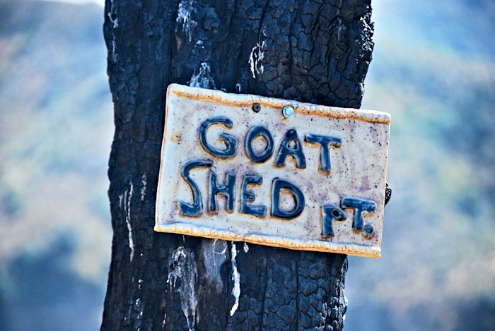 Goat Shed Point Sign, June 1, 2014.