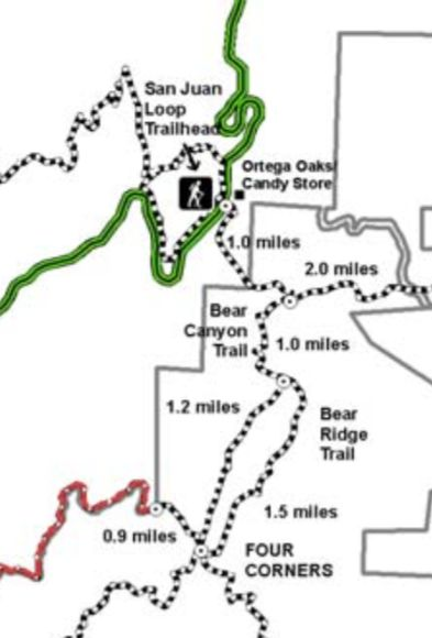 The real map of the Bear Canyon Trail